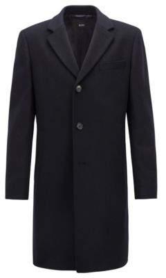 BOSS Hugo Formal coat in wool & cashmere notch lapels 38R Dark Blue