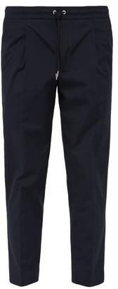 Moncler Drawstring Waist Cotton Poplin Trousers - Mens - Navy