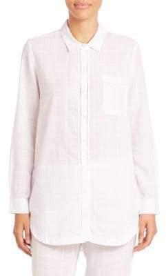 Skin Light Stripe Cotton Pajama Top
