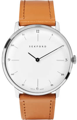 Sekford - Type 1a Stainless Steel And Leather Watch - White