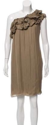 Lanvin One-Shoulder Ruffled Dress