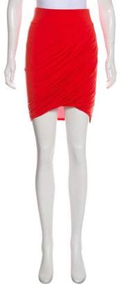 Helmut Lang Gathered Mini Skirt
