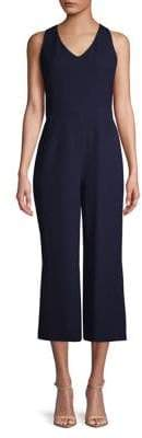 Karl Lagerfeld Paris V-Neck Cropped Jumpsuit