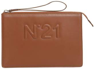 N°21 Clutch With Embossed Logo