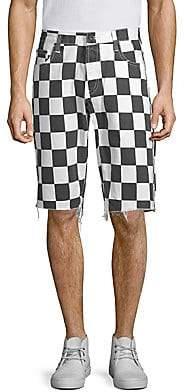 PRPS Men's Slim-Fit Checkered Shorts