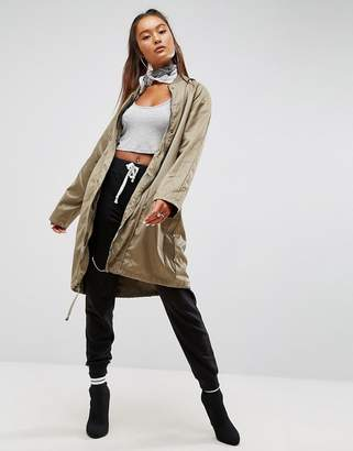 ASOS 2 in 1 Parka in Contrast Fabrics $128 thestylecure.com