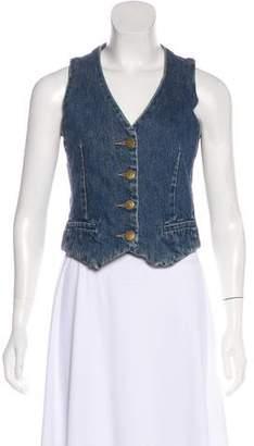Marc Jacobs Denim Cropped Vest