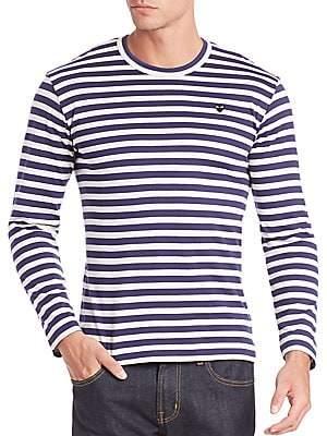 Comme des Garcons Men's Striped Long Sleeve T-Shirt