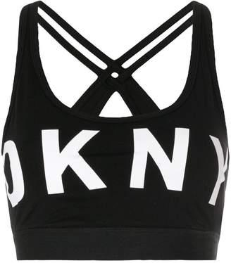 DKNY logo sports bra-top