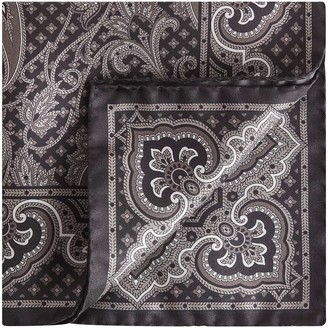 Reiss Henry Silk Paisley Pocket Square