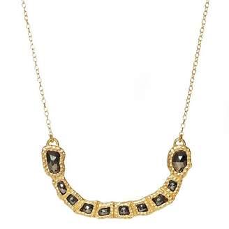 Christina Greene - Gemstone Curved Bar Necklace in Pyrite