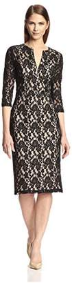 Society New York Women's Elbow Sleeve Lace Dress