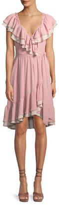 Rebecca Minkoff Sarah Ruffle Wrap Knee-Length Dress