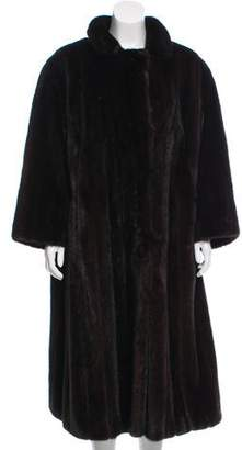 Oscar de la Renta Long Fur Coat