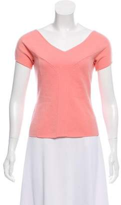 Narciso Rodriguez Virgin Wool Short Sleeve Top