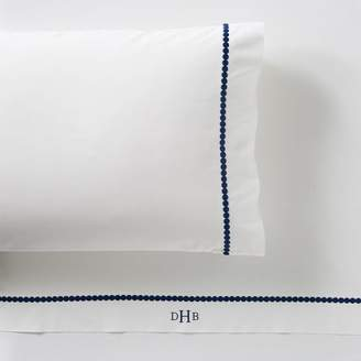 Pottery Barn Teen Pop Dot Sheet Set, Queen Royal Navy