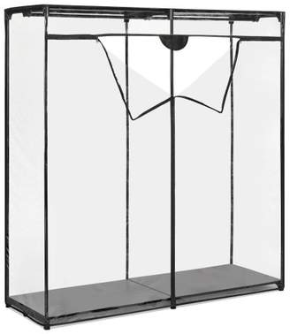 Whitmor Extra Wide Clothes Closet - Freestanding Garment Organizer with Clear Cover