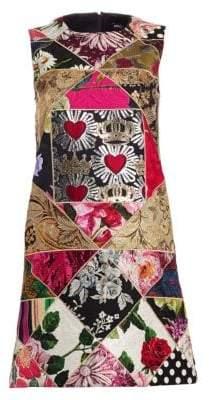 Dolce & Gabbana Floral Jacquard Patchwork Shift Dress