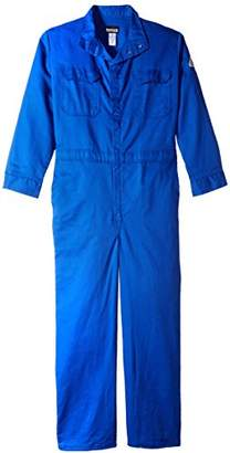 Equipment Bulwark Flame Resistant 7 oz Cotton/Nylon ComforTouch Premium Coverall with Concealed Snap Closure