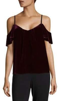 Joie Adorlee Cold-Shoulder Velvet Top