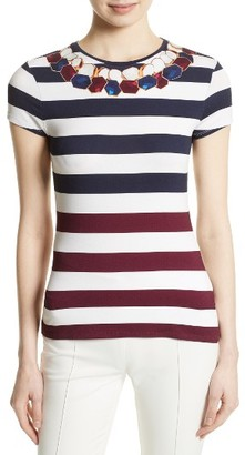 Women's Ted Baker London Danilyn Rowing Placement Print Tee $79 thestylecure.com