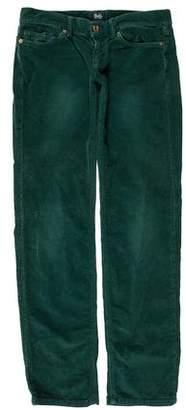 Dolce & Gabbana Corduroy Low-Rise Pants