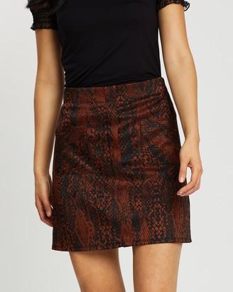 Dorothy Perkins Snake Mini Skirt