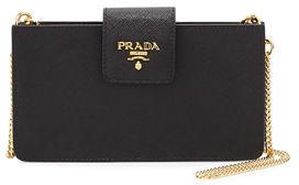 Prada Saffiano Phone Crossbody Bag $580 thestylecure.com