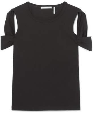 Helmut Lang Cutout Cotton-jersey T-shirt - Black