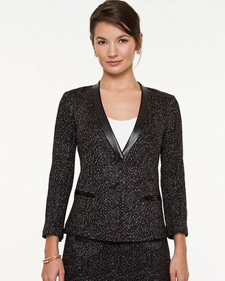 Le Château Tweed Inverted Collar Blazer