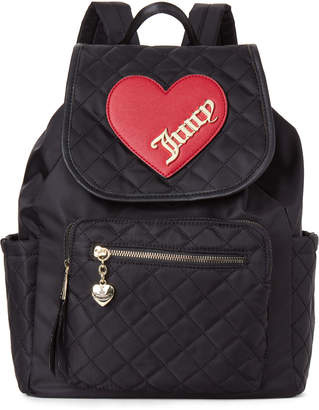 Juicy Couture Black Cross My Heart Nylon Backpack