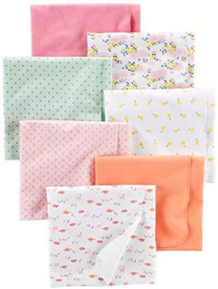 Carter's Simple Joys by Baby Girls' 7-Pack Flannel Receiving Blankets
