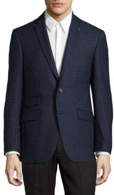 Ted Baker No Ordinary Joe Micro Windowpane Wool Suit Jacket