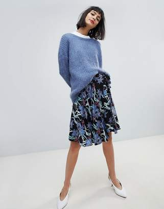 Pieces Floral Wrap Skirt