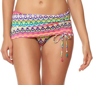 Bleu Rod Beattie Bleu   Rod Beattie Bleu by Rod Beattie In Living Color Printed Adjustable Swim Skirt
