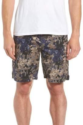Treasure & Bond E-Waist Print Utility Shorts