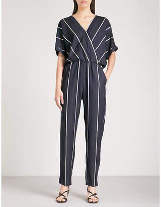 Maje Stripe-pattern woven jumpsuit