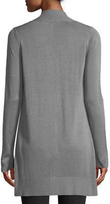 Neiman Marcus Long-Sleeve Open-Front Cardigan