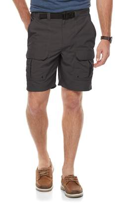 Croft & Barrow Men's Classic-Fit Outdoor Belted Side-Elastic Ripstop Cargo Shorts