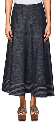 Derek Lam Women's Denim Midi-Skirt