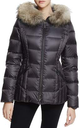 Dawn Levy Nikki Fur Trim Short Down Coat $595 thestylecure.com