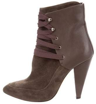 IRO Suede Lace-Up Ankle Boots