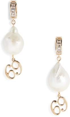 Jiwinaia 69 Charm Pearl Drop Earrings