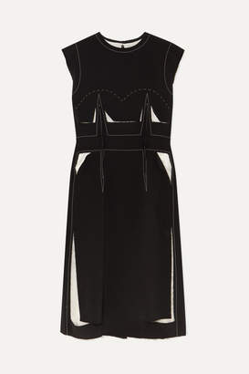 Maison Margiela Cotton-trimmed Wool-blend Dress - Black