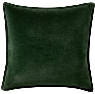 Pottery Barn Washed Velvet Pillow Cover - Hunter