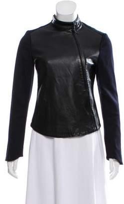 Rag & Bone Twill-Accented Leather Jacket