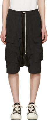 Rick Owens Black Pod Cargo Shorts $775 thestylecure.com
