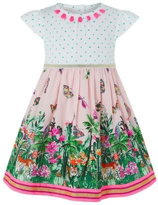 Monsoon Baby Girls' Pink 'Mischa' Jungle 2 In 1 Dress