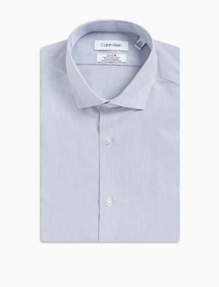 Calvin Klein steel slim fit blue vertical stripe dress shirt
