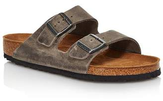 Birkenstock Men's Arizona Oiled Leather Slide Sandals